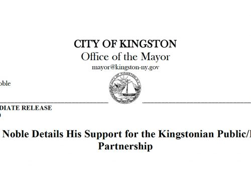 PRESS RELEASE: Mayor Noble Details His Support for the Kingstonian Public/Private  Partnership