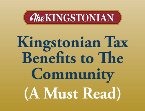 Kingstonian Tax Benefits to The Community (A Must Read)