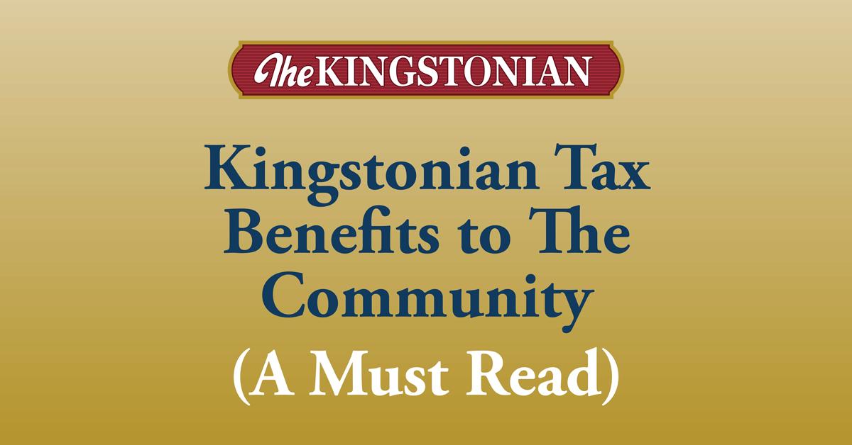 Kingstonian Tax Benefits to The Community